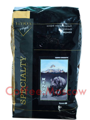 Кофе Блюз Kenya AA в зернах 1 кг