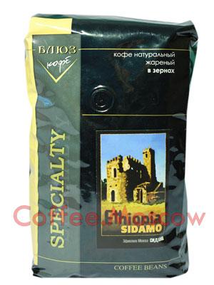 Кофе Блюз Ethiopia Sidamo в зернах 1 кг