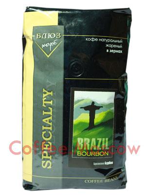 Кофе Блюз Brazil Bourbon в зернах 1 кг