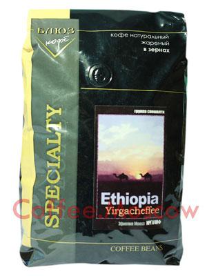 Кофе Блюз Ethiopia Yirgacheffee в зернах 1 кг