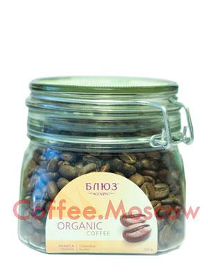 Органический кофе в зернах Блюз Colombia Excelso 200 гр
