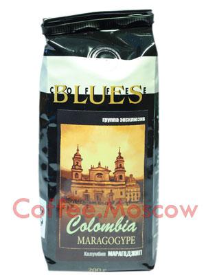 Кофе Блюз Colombia Maragogype в зернах 200 гр