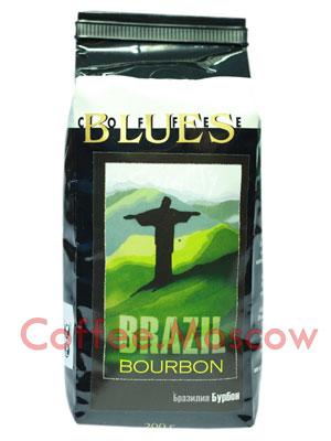 Кофе Блюз Brazil Bourbon в зернах 200гр