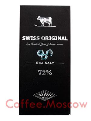 Шоколад Swiss Original горький с морской солью  100 г