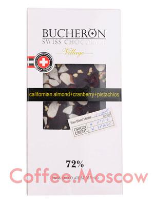 Шоколад Bucheron горький 100 гр (миндаль, клюква, фисташки)