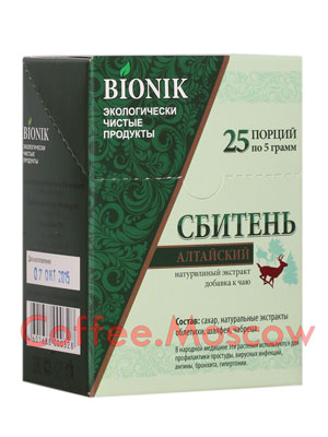 Сахар Bionik Сбитень алтайский 25 стиков