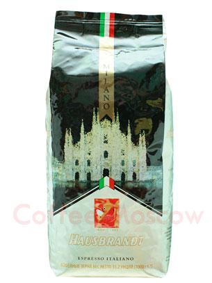Кофе Hausbrandt в зернах Milano 1 кг
