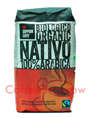 Кофе Goppion Caffe в зернах Biologico Organico Nativo 1кг