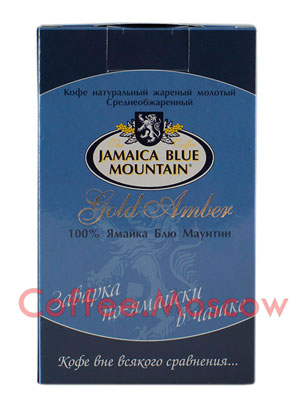 Кофе Jamaica Blue Mountain молотый Gold Amber 10 пакетиков по 10гр