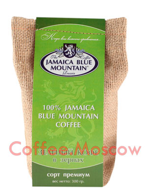 Кофе Jamaica Bue Mountain в зернах зеленый 300гр