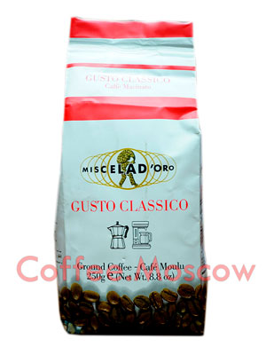 Кофе Miscela d`Oro молотый Gusto Classico 250гр