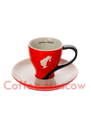 Чашка+Блюдце Julius Meinl 80 мл эспрессо (красная)