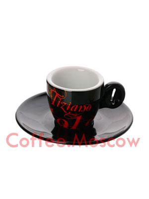 Чашка+Блюдце эспрессо Bristot 60 мл (черная)