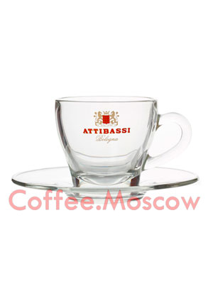 Чашка Attibassi капучино Прозрачная 150 мл