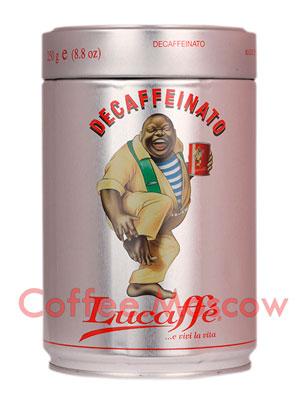 Кофе Lucaffe молотый Decaffeinato 250 гр