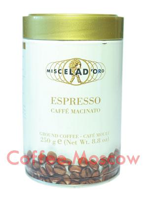 Кофе Miscela d`Oro молотый Espresso Caffe Macinato 250гр