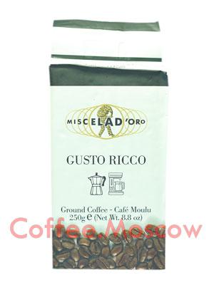 Кофе Miscela d`Oro молотый Gusto Ricco 250гр