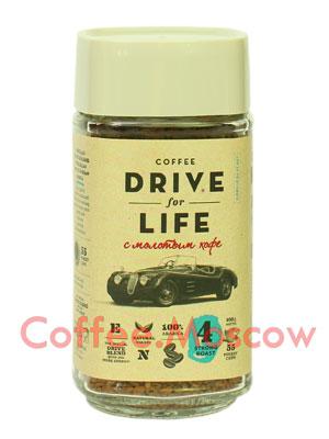 Живой кофе растворимый Drive For Life + стакан, 80 гр