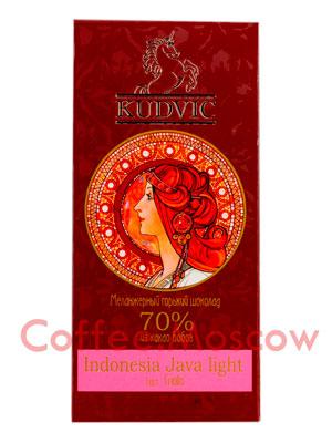 Шоколад Kudvic 70% из какао бобов Indonesia Java Light