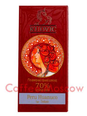 Шоколад Kudvic 70% из какао бобов Peru Huanuco