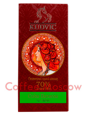 Шоколад Kudvic 70% из какао бобов Cuba Baracoa