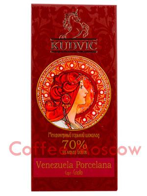 Шоколад Kudvic 70% из какао бобов Venezuela Porcelana