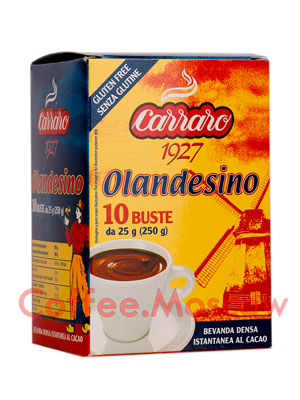 Какао Carraro Cacao Olandesino 25 гр-10 шт