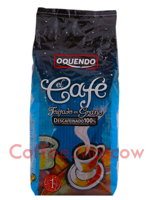 Кофе Oquendo в зернах El Cafe Descafeinado 1 кг