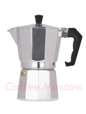 Гейзерная кофеварка Hot Алюминиевая Индукционная 6 порций (240 мл)