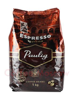 Кофе Paulig Espresso Supremo в зёрнах 1кг