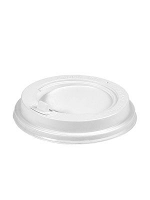 Крышка для бумажных стаканов с клапаном 90 мм (Белая)