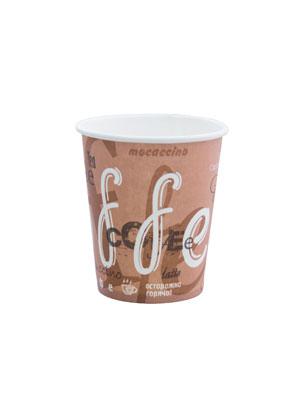 Стакан бумажный однослойный 185 мл Кофе