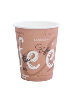 Стакан бумажный однослойный 250 мл Кофе
