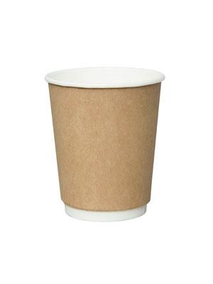 Стакан бумажный Thermo Cup двухслойный 300 мл Крафт