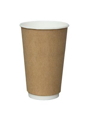 Стакан бумажный Thermo Cup двухслойный 400 мл Крафт