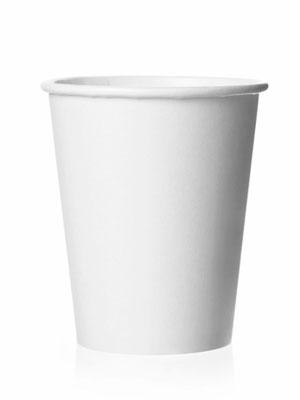 Стакан бумажный одноразовый белый 300 мл