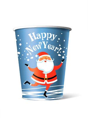 Стакан бумажный одноразовый Happy New Year 300 мл