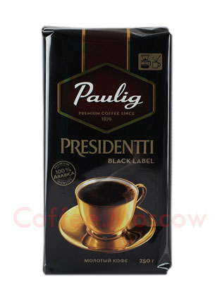 Кофе Paulig Presidentti Black Label молотый 250 гр