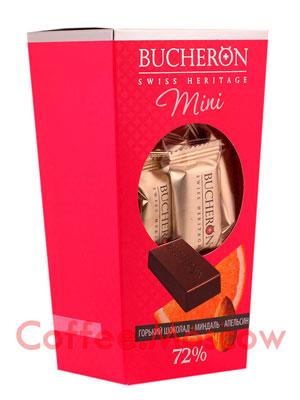 Шоколадные конфеты Bucheron Mini горький с миндалем и апельсином 171 гр