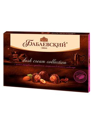 Конфеты Бабаевские Дробленный миндаль и ореховый крем в темном шоколаде 200 гр