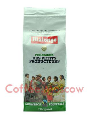 Кофе Malongo в зернах Fair Trade Max Havelaar