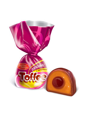 Конфеты Красный Октябрь Toffee Original с начинкой