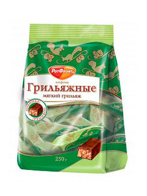 Конфеты Красный Октябрь Мягкий грильяж 250 гр