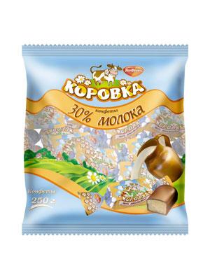 Конфеты Рот Фронт Коровка 30% молока 250 гр