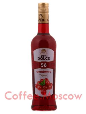Сироп Don Dolce Клюква 0.7 л