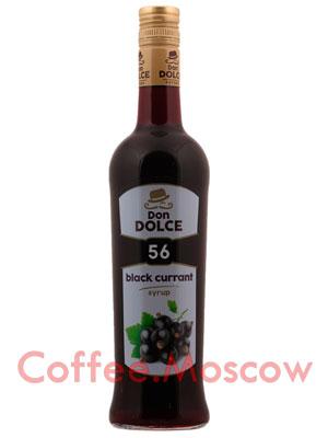 Сироп Don Dolce Черная смородина 0.7 л