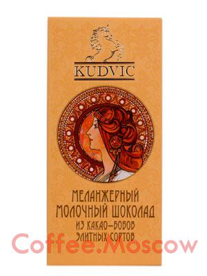Шоколад Kudvic Молочный шоколад с какао-крупкой 90 гр