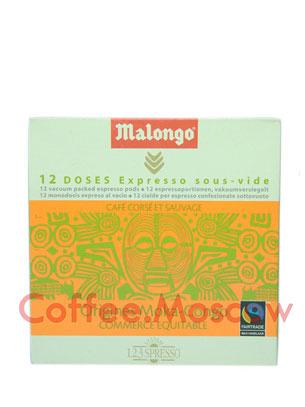 Кофе Malongo в чалдах Origines Moka Congo