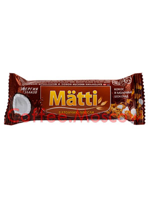 Мюсли Matti Кокос и молочный шоколад