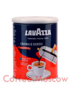 Кофе Lavazza молотый Crema e Gusto 250 гр ж.б.
